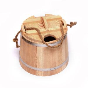Запарник для веников с крышкой из лиственницы 17л
