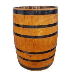 Вазон деревянный бочка 100л