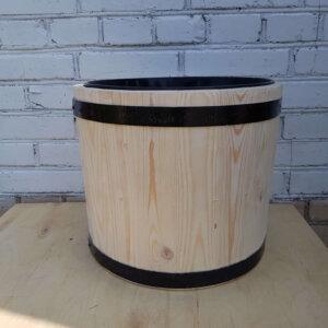 Вазон деревянный с пластиковым вкладышем 10 литров