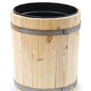 Вазон деревянный с пластиковым вкладышем 20 литров высота 44 см