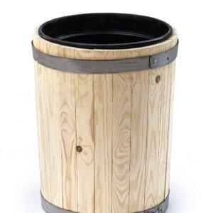 Вазон деревянный с пластиковым вкладышем 4 литра высота 40 см