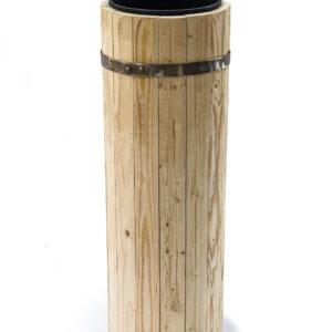 Вазон деревянный с пластиковым вкладышем 4 литра высота 60 см