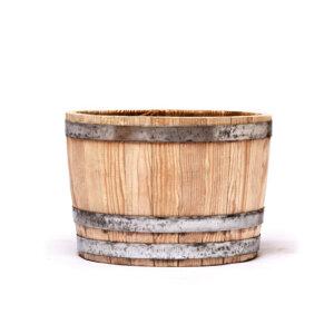 Вазон деревянный полубочка вертикальная
