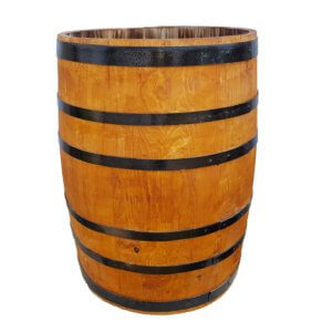 Вазон деревянный бочка 200л