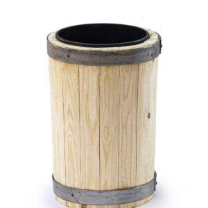 Вазон для цветов деревянный с пластиковым вкладышем 4 литра