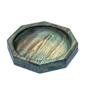 Тарелка из дуба восьмиугольная