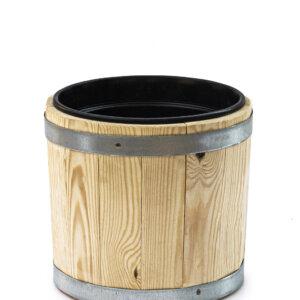 Вазон для цветов деревянный с пластиковым вкладышем 7,5 литров