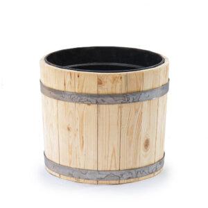 Вазон деревянный с пластиковым вкладышем 20 литров