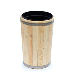 Вазон деревянный с пластиковым вкладышем 20 литров высота 60 см